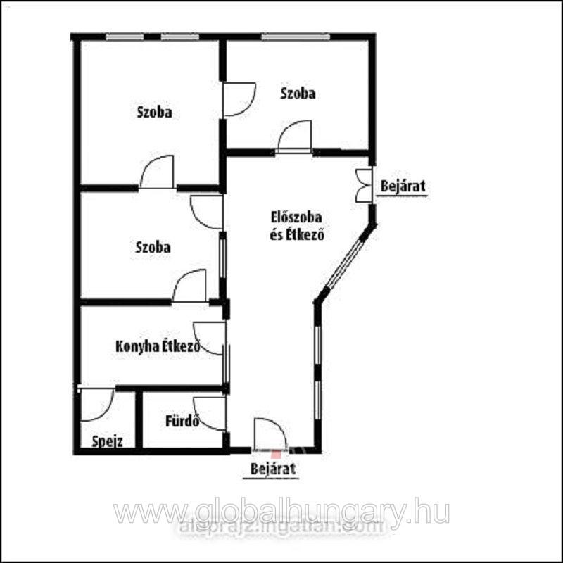 Harkányban 100m2-es családi ház 986m2-es telken eladó.